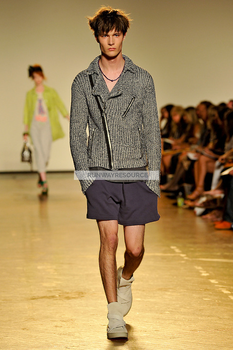 Gordie walks the runway wearing Marc by Marc Jacobs Spring 2010 collection during New York Mercedes-Benz fashion week on September 15, 2009.
