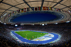 Panoramic view of the stadium during day six of the 12th IAAF World Athletics Championships at the Olympic Stadium on August 20, 2009 in Berlin, Germany. (Photo by Vid Ponikvar / Sportida)