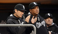 CHICAGO - APRIL 04:  Manager Robin Ventura #23 of the Chicago White Sox looks on against the Boston Red Sox on May 4, 2016 at U.S. Cellular Field in Chicago, Illinois.  The Red Sox defeated the White Sox 5-2.  (Photo by Ron Vesely)    Subject:  Robin Ventura