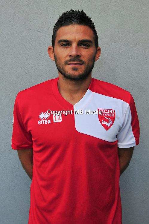 Florian Fabre - 22.07.2015 - Entrainement Nimes<br /> Photo : Philippe Lebrech / Icon Sport *** Local Caption ***