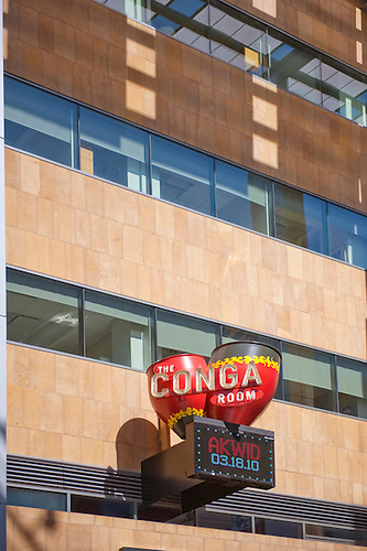 Conga Room, LA LIVE Celebrity Owned Downtown Los Angeles, Sign, Hospitality  Building.