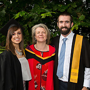 "25.08.2016          <br />  Faculty of Business, Kemmy Business School graduations at the University of Limerick today. <br /> <br /> Attending the conferring wer Graduate Certificate in Posture, Seating and Wheelchair Mobility across the Life Course   graduates, Anne Lynam, Kilcock Co. Kildare, and John Lynch, Walkinstown County Dublin with Dr. Rosie Gowran, Dept. Clinical Therapies. Picture: Alan Place.<br /> <br /> <br /> As the University of Limerick commences four days of conferring ceremonies which will see 2568 students graduate, including 50 PhD graduates, UL President, Professor Don Barry highlighted the continued demand for UL graduates by employers; ""Traditionally UL's Graduate Employment figures trend well above the national average. Despite the challenging environment, UL's graduate employment rate for 2015 primary degree-holders is now 14% higher than the HEA's most recently-available national average figure which is 58% for 2014"". The survey of UL's 2015 graduates showed that 92% are either employed or pursuing further study."" Picture: Alan Place"