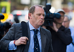 © Licensed to London News Pictures. 10/06/2015. London, UK. Former specialist firearms officer with the Metropolitan Police ANTHONY LONG arriving at court in London on June 10, 2015, where is accused of murdering Azelle Rodney in April 2005. Rodney died after officers stopped the car he was travelling in with two other men in Edgware, north London. Photo credit: Ben Cawthra/LNP