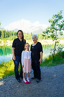 Summer family portraits with the Thompson family on a beautiful sunny day at the Canmore Nordic Centre Provincial Park<br /> <br /> &copy;2017, Sean Phillips<br /> http://www.RiverwoodPhotography.com