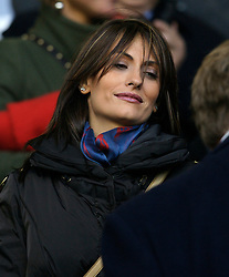 LIVERPOOL, ENGLAND - Sunday, December 2, 2007: Nagore Alonso, wife of Liverpool's Xabi Alonso, during the Premiership match at Anfield. (Photo by David Rawcliffe/Propaganda)
