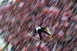 Poland, Zakopane - 2018 January 28: Peter Prevc from Slovenia soars through the air 18th World Cup Competition Men's HS140 Large Hill Individual during FIS Ski Jumping World Cup Zakopane 2017/2018 - Day 3 at Wielka Krokiew jumping hill on January 28, 2018 in Zakopane, Poland.<br /> <br /> Mandatory credit:<br /> Photo by &copy; Adam Nurkiewicz<br /> <br /> Adam Nurkiewicz declares that he has no rights to the image of people at the photographs of his authorship.<br /> <br /> Picture also available in RAW (NEF) or TIFF format on special request.<br /> <br /> Any editorial, commercial or promotional use requires written permission from the author of image.