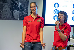 Van Laere Marie-Fleur (Social Media Reporter), Laeremans Weny, (Chef de Mission)<br /> Team presentation for WEG Tryon 2018<br /> Zaventem 2018<br /> © Hippo Foto - Dirk Caremans<br /> 22/08/2018