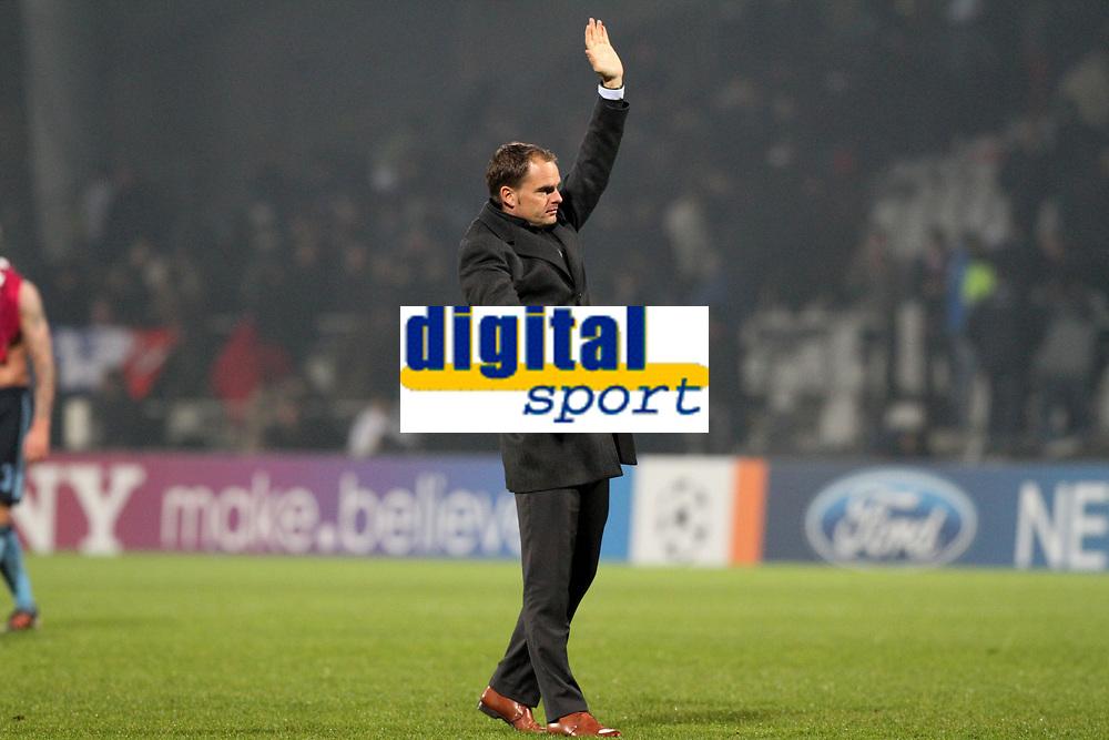 FOOTBALL - UEFA CHAMPIONS LEAGUE 2011/2012 - GROUP STAGE - GROUP D - OLYMPIQUE LYONNAIS v AJAX AMSTERDAM - 22/11/2011 - PHOTO EDDY LEMAISTRE / DPPI - FRANK DE BOER (AJAX COACH)