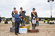 Prijsuitreiking Young Riders<br /> Flanders Dressage Event 2018<br /> © DigiShots