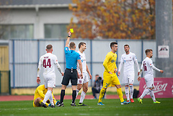 Referee Alen Borosa and Ales Mertelj o Triglav during football match between NK Domzale and NK Triglav in Round #18 of Prva liga Telekom Slovenije 2019/20, on November 23, 2019 in Sports park Domzale, Slovenia. Photo by Sinisa Kanizaj / Sportida