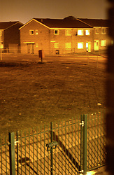 Council housing estate at night Tyneside UK