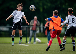 Pepijn #3 of VV Maarssen  in action. VV Maarssen O14-1 played a friendly game against CDW O15-2. Maarssen won 9-2 on July 11, 2020 at Daalseweide sports park Maarssen.
