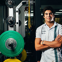 F1 Racing Magazine<br /> Lance Stroll Williams F1 Rookie.<br /> Fitness Feature<br /> Williams GP, Grove. Wantage<br /> 20th January 2017<br /> twitter:@malcy70s<br /> Insta:@malcy1970<br /> malcy1970@me.com<br /> www.malcolm.gb.net<br /> Copyright Malcolm Griffiths