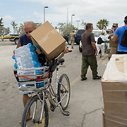 MARATHON, FL - SEPTEMBER 16: <br /> Food, water and ice is given to anyone in need in Key West on September 16, 2017 in Marathon, Florida.  (Photo by Angel Valentin/Getty Images)
