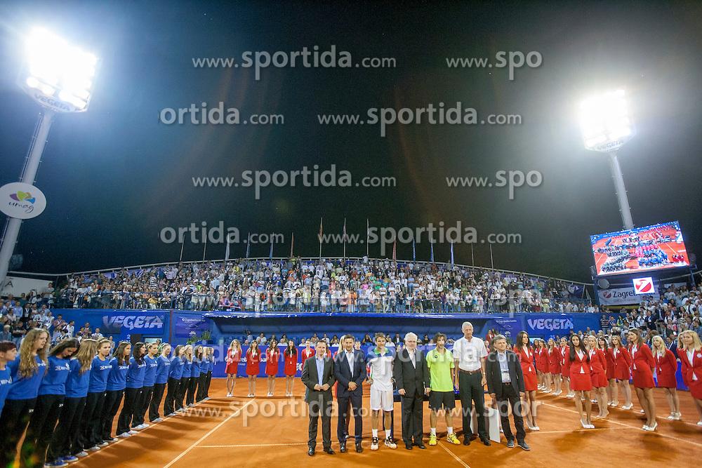 During flower ceremony after final of singles at 25th Vegeta Croatia Open Umag, on July 27, 2014, in Stella Maris, Umag, Croatia. Photo by Urban Urbanc / Sportida