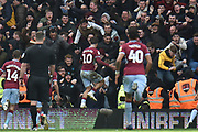 Aston Villa midfielder Jack Grealish (10) scores a goal and celebrates 0-1 during the EFL Sky Bet Championship match between Birmingham City and Aston Villa at St Andrews, Birmingham, England on 10 March 2019.