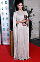 Hildur Guonadottir with her Best Original Score Bafta award attending the after show party for the 73rd British Academy Film Awards.