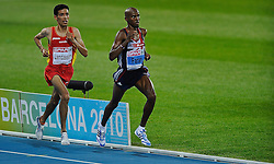 27.07.2010, Olympic Stadium, Barcelona, ESP, European Athletics Championships Barcelona 2010, im Bild Ayad Lamdassem  Mo Farah ENG European Champions on the 10000 meters EXPA Pictures © 2010, PhotoCredit: EXPA/ nph/ . Ronald Hoogendoorn+++++ ATTENTION - OUT OF GER +++++