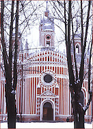 The Chesme Church in winter in Moscow, Russia