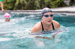 23.06.2017, Hotel Forsthofgut, Leogang, AUT, OeSV, Schwimmtraining Damen Speed Team, im Bild Tamara Tippler (AUT) // during a swimmtraining of the Austrian Ladies Speed Team at the Hotel Forsthofgut, Leogang, Austria on 2017/06/23. EXPA Pictures © 2017, PhotoCredit: EXPA/ JFK