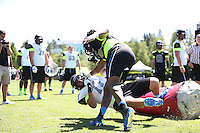 Andrew Williams  and Bentley Spain at The Opening on July 3, 2013 at the Nike World Headquarters  in Portland, Oregon.