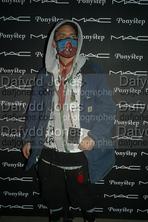 DR. NOKI, Ponystep Launch supported by Mac Cosmetics. Sketch. 28 April 2008.  *** Local Caption *** -DO NOT ARCHIVE-© Copyright Photograph by Dafydd Jones. 248 Clapham Rd. London SW9 0PZ. Tel 0207 820 0771. www.dafjones.com.