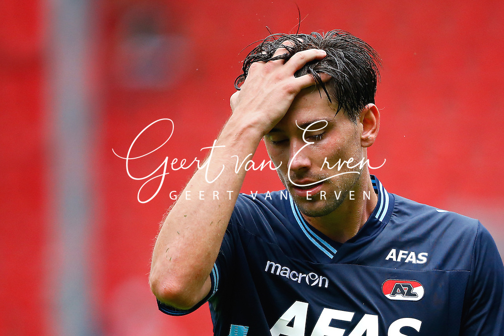 Onderwerp/Subject: AZ Alkmaar - Eredivisie<br /> Reklame:  <br /> Club/Team/Country: <br /> Seizoen/Season: 2013/2014<br /> FOTO/PHOTO: Jan WUYTENS of AZ Alkmaar dejected after the match ( 2 - 0 ). (Photo by PICS UNITED)<br /> <br /> Trefwoorden/Keywords: <br /> #03 #17 $94 &plusmn;1371811811150<br /> Photo- &amp; Copyrights &copy; PICS UNITED <br /> P.O. Box 7164 - 5605 BE  EINDHOVEN (THE NETHERLANDS) <br /> Phone +31 (0)40 296 28 00 <br /> Fax +31 (0) 40 248 47 43 <br /> http://www.pics-united.com <br /> e-mail : sales@pics-united.com (If you would like to raise any issues regarding any aspects of products / service of PICS UNITED) or <br /> e-mail : sales@pics-united.com   <br /> <br /> ATTENTIE: <br /> Publicatie ook bij aanbieding door derden is slechts toegestaan na verkregen toestemming van Pics United. <br /> VOLLEDIGE NAAMSVERMELDING IS VERPLICHT! (&copy; PICS UNITED/Naam Fotograaf, zie veld 4 van de bestandsinfo 'credits') <br /> ATTENTION:  <br /> &copy; Pics United. Reproduction/publication of this photo by any parties is only permitted after authorisation is sought and obtained from  PICS UNITED- THE NETHERLANDS