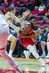 NORMAL, IL - December 18: Marcus Ottey drives hard against Ricky Torres during a college basketball game between the ISU Redbirds and the UIC Flames on December 18 2019 at Redbird Arena in Normal, IL. (Photo by Alan Look)