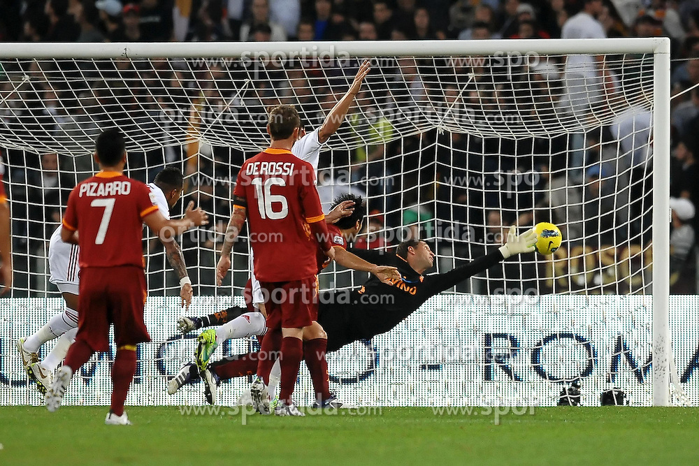 29.10.2011, Olympia Stadion, Rom, ITA, Serie A, AS Rom vs AC Mailand, im Bild Il gol di Zlatan IBRAHIMOVIC Milan.goal celebration // durin the Serie A match between AS Rom vs AC Mailand, at the Olympic Stadium, Rome, Italy on 29/10/2011. EXPA Pictures © 2011, PhotoCredit: EXPA/ InsideFoto/ Andrea Staccioli +++++ ATTENTION - FOR AUSTRIA/(AUT), SLOVENIA/(SLO), SERBIA/(SRB), CROATIA/(CRO), SWISS/(SUI) and SWEDEN/(SWE) CLIENT ONLY +++++
