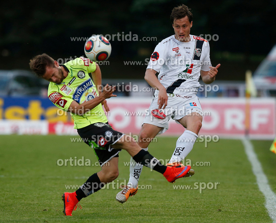 16.05.2015, Stadion Wolfsberg, Wolfsberg, AUT, 1. FBL, RZ Pellets WAC vs SK Puntigamer Sturm Graz, 33. Runde, im Bild v.l. Martin Ehrenreich (SK Sturm Graz) und Dario Baldauf (RZ Pellets WAC) // during the Austrian Football Bundesliga 33rd Round match between RZ Pellets WAC and Sturm Graz at the Stadium Wolfsberg in Wolfsberg Austria on 2015/05/16, EXPA Pictures © 2015, PhotoCredit: EXPA/ Wolfgang Jannach