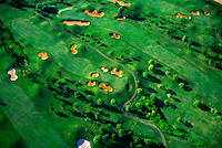 Aerial of golf course, Kaua'i, Hawaii