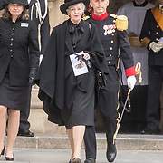 LUX/Luxemburg/20190504 - Funeral of HRH Grand Duke Jean/Uitvaart Groothertog Jean, Koningin Margrethe II  van Denemarken