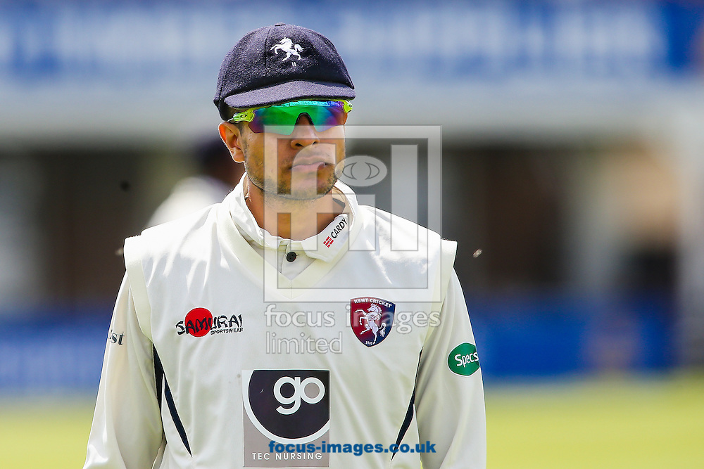 Imran Qayyum of Kent during the Specsavers County C'ship Div Two match at the County Ground, Northampton<br /> Picture by Andy Kearns/Focus Images Ltd 0781 864 4264<br /> 16/05/2016