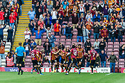 Zeli Ismail of Bradford City celebrating his team's first goal during the EFL Sky Bet League 2 match between Bradford City and Northampton Town at the Utilita Energy Stadium, Bradford, England on 7 September 2019.
