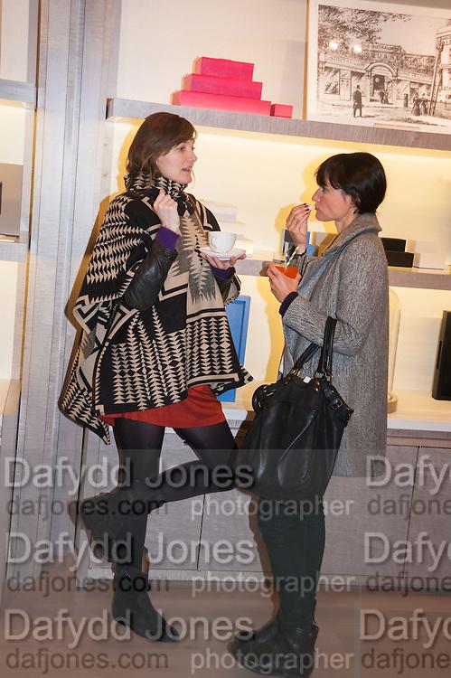 NADIA MARQUARD OTZEN; SUSANNA CAPPELLARO; , Smythson Sloane St. Store opening. London. 6 February 2012.