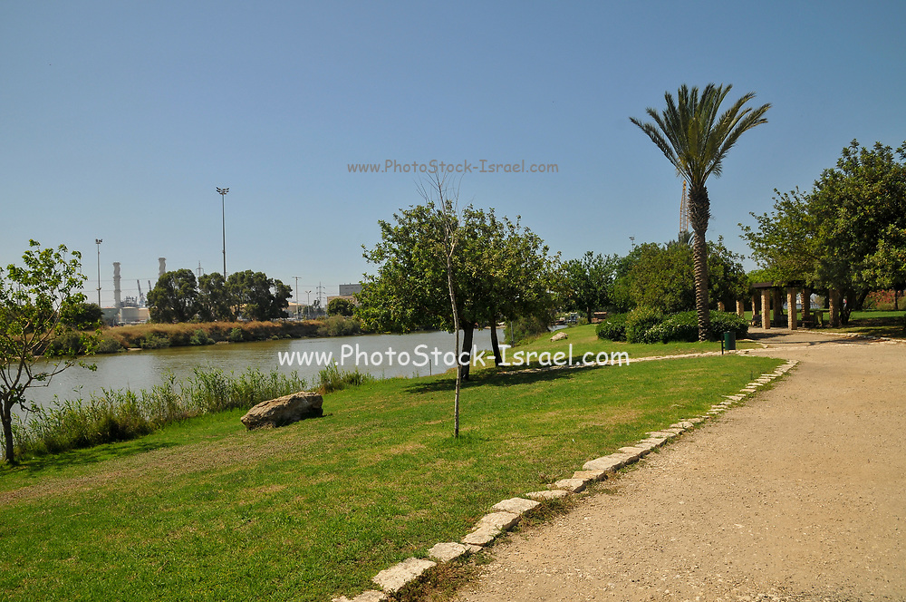 Israel, Haifa, The Kishon Park on the banks of the Kishon river. Considered the most polluted river in Israel by several government authorities, it has been the subject of controversy regarding the struggle to improve the water quality. The pollution stems in part from daily contamination for over 40 years with mercury, other heavy metals, and organic chemicals by nearby chemical plants.