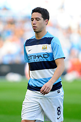 Manchester City's Samir Nasri - Photo mandatory by-line: Dougie Allward/JMP - Tel: Mobile: 07966 386802 22/09/2013 - SPORT - FOOTBALL - City of Manchester Stadium - Manchester - Manchester City V Manchester United - Barclays Premier League