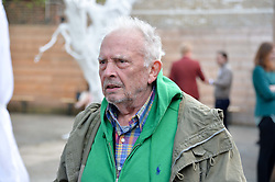 DAVID BAILEY at a private view in aid of Chickenshed of Julian Schnabel's first UK solo show of paintings for 15 years entitled 'Every Angel Has A Dark Side' held at the Dairy Art Centre, 7a Wakefield Street, Bloomsbury, London on 24th April 2014.