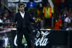 February 28, 2019 - Valencia, Spain - Head coach of Valencia CF Marcelino Garcia Toral During Spanish King La Copa match between  Valencia cf vs Real Betis Balompie Second leg  at Mestalla Stadium on February 28, 2019. (Photo by Jose Miguel Fernandez/NurPhoto) (Credit Image: © Jose Miguel Fernandez/NurPhoto via ZUMA Press)