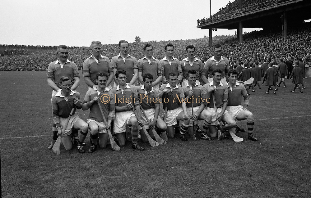 All-Ireland Senior Hurling Final, Wexford v Tipperary, at Croke Park. .Senior Wexford v Tipperary, Tipperary 3-10 Wexford 2-11, .Wexford Team..02.09.1962