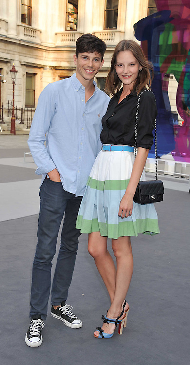 SARA BLOMQVIST and JEREMY YOUNG at the Royal Academy of Arts Summer Exhibition Preview Party at Burlington House, Piccadilly, London on 2nd June 2011.