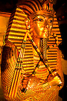 King Tut Sarcophagus, Egyptian Museum, Cairo, Egypt