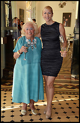 Tania Bryer (right) and her mother Joy attend the National Youth Orchestra of The United States of America Reception at the <br /> The Royal Albert Hall hosted be Ronald O.Perelman, London, United Kingdom,<br /> Sunday, 21st July 2013<br /> Picture by Andrew Parsons / i-Images