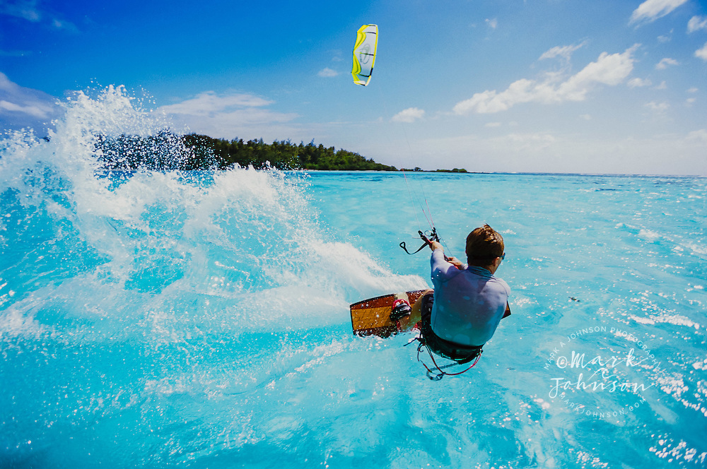 Kitesurfing, Moorea, French Polynesia ****Model Release available