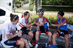 WNT Rotor Pro Cycling compare hand sizes at Tour of Chongming Island 2019 - Stage 2, a 126.6 km road race from Changxing Island to Chongming Island, China on May 10, 2019. Photo by Sean Robinson/velofocus.com