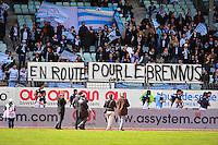 Banderole supporters Racing Metro - 11.04.2015 - Racing Metro / Montpellier  - 22eme journee de Top 14 <br />Photo : Dave Winter / Icon Sport