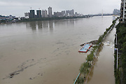LIUZHOU, Nov. 13, 2015 (Xinhua) -- <br /> <br /> Road by a river is flooded in Liuzhou City, south China's Guangxi Zhuang Autonomous Region, Nov. 13, 2015. Heavy rainfall in recent days brought flood to many rivers in Guangxi. <br /> ©Exclusivepix Media
