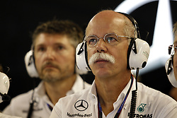 Motorsports / Formula 1: World Championship 2010, GP of Abu Dhabi,  Dr. Dieter Zetsche (Chairman of the Board of Management of Daimler AG, Head of Mercedes-Benz Cars),