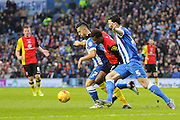 Brighton central midfielder, Beram Kayal (7) on the ball during the Sky Bet Championship match between Brighton and Hove Albion and Birmingham City at the American Express Community Stadium, Brighton and Hove, England on 28 November 2015. Photo by Phil Duncan.