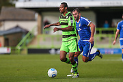 Forest Green Rovers Ethan Pinnock(16) runs forward during the Vanarama National League match between Forest Green Rovers and Guiseley  at the New Lawn, Forest Green, United Kingdom on 22 October 2016. Photo by Shane Healey.